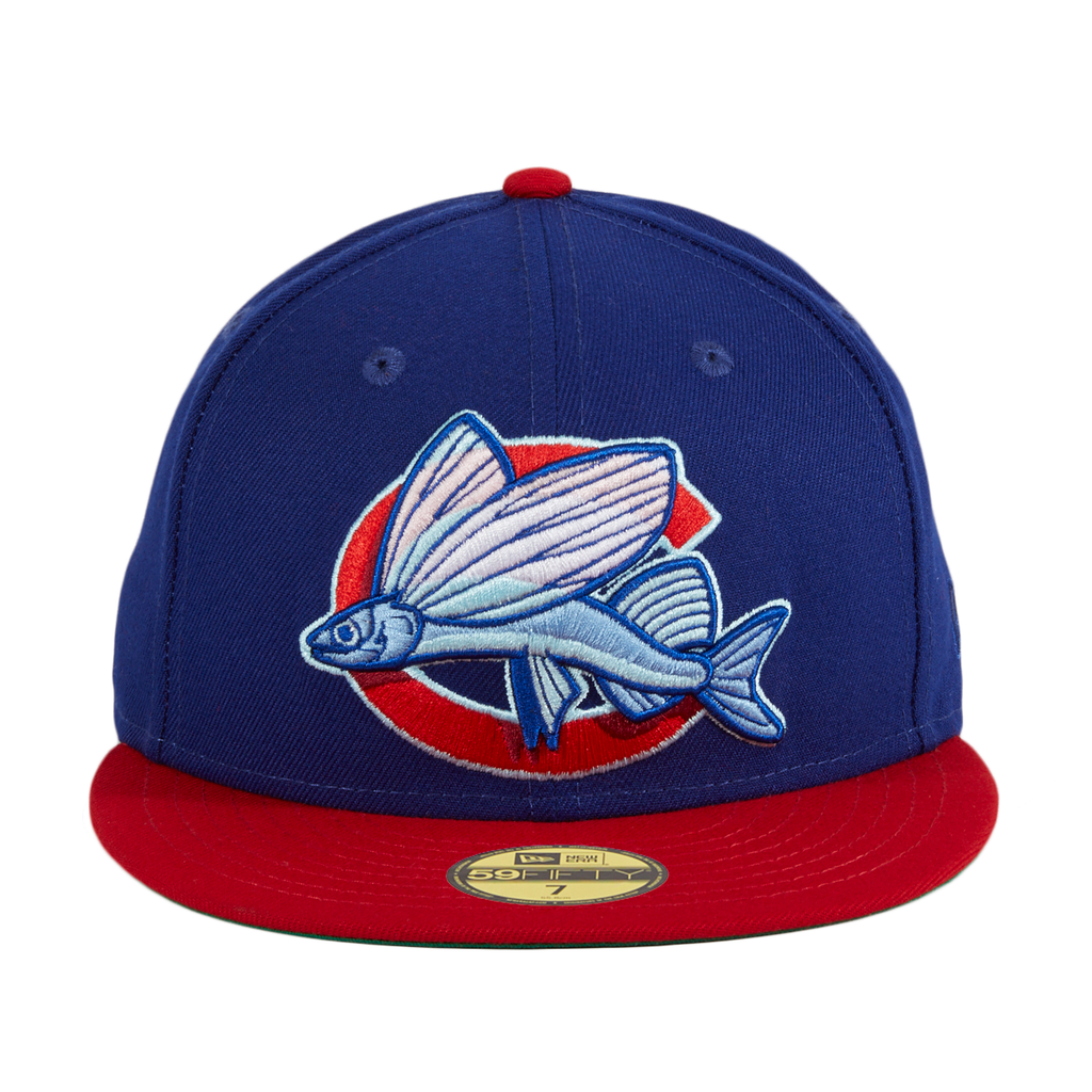 Exclusive New Era 59Fifty Clink Room Flying Fish Hat - Royal, Red