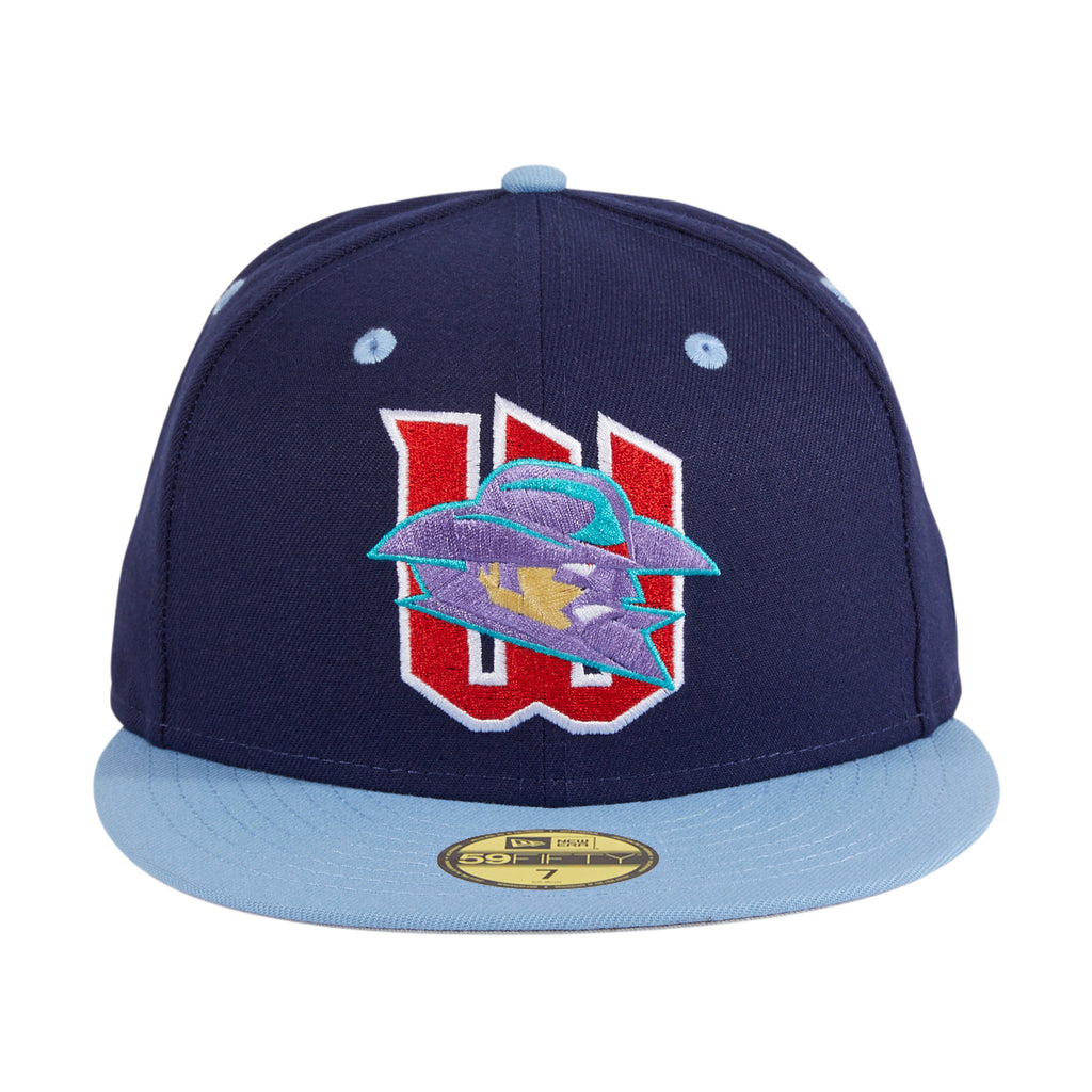 Exclusive New Era 59Fifty Wichita Wranglers Hat - Light Navy, Light Blue