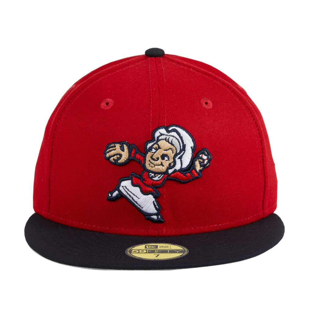 New Era 59Fifty Fredericksburg Nationals Mary Pitch Hat - Red, Navy