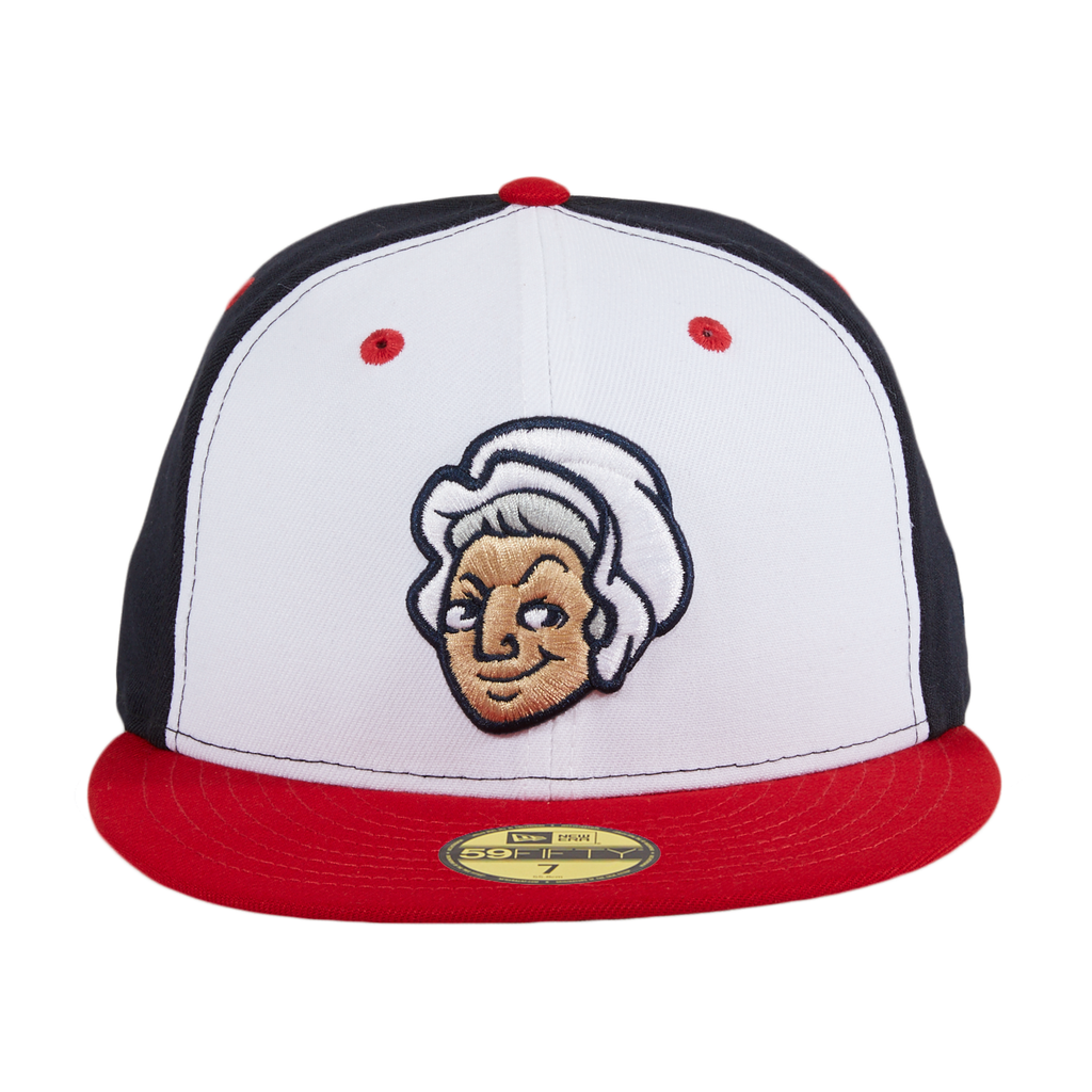 New Era 59Fifty Fredericksburg Nationals Mary Rail Hat - White, Red, Navy
