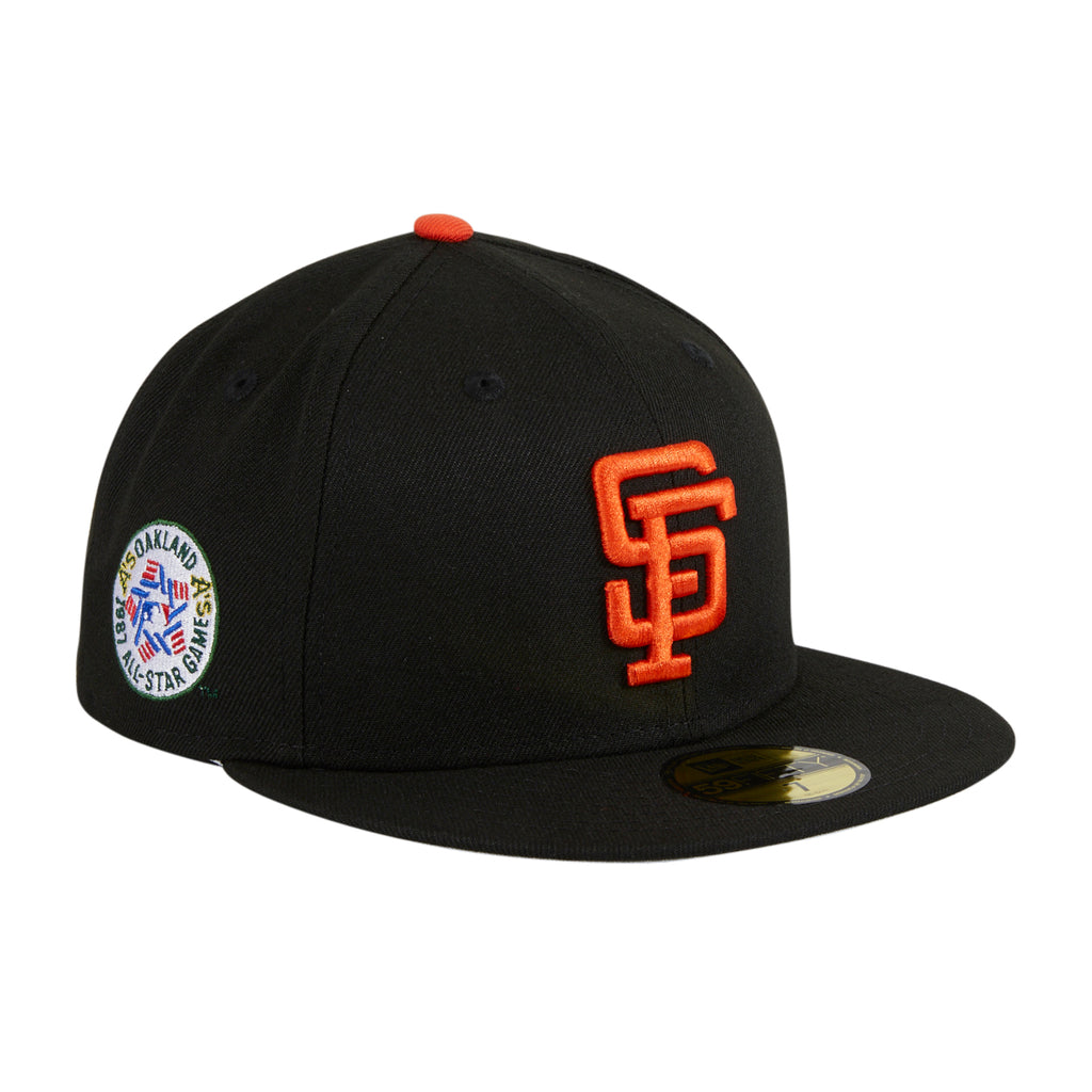 Exclusive New Era 59Fifty Crosstown San Francisco Giants 1987 All Star Game Patch Hat - Black