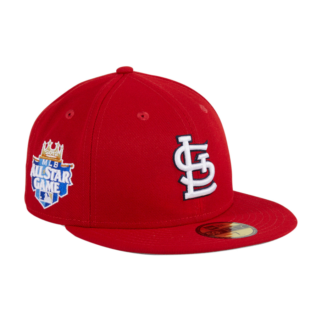 Exclusive New Era 59Fifty Crosstown St Louis Cardinals 2012 All Star Game Patch Hat - Red