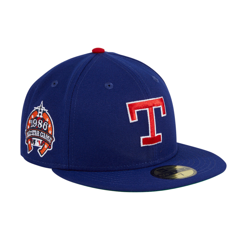 Exclusive New Era 59Fifty Crosstown Texas Rangers 1986 All Star Game Patch Hat - Royal