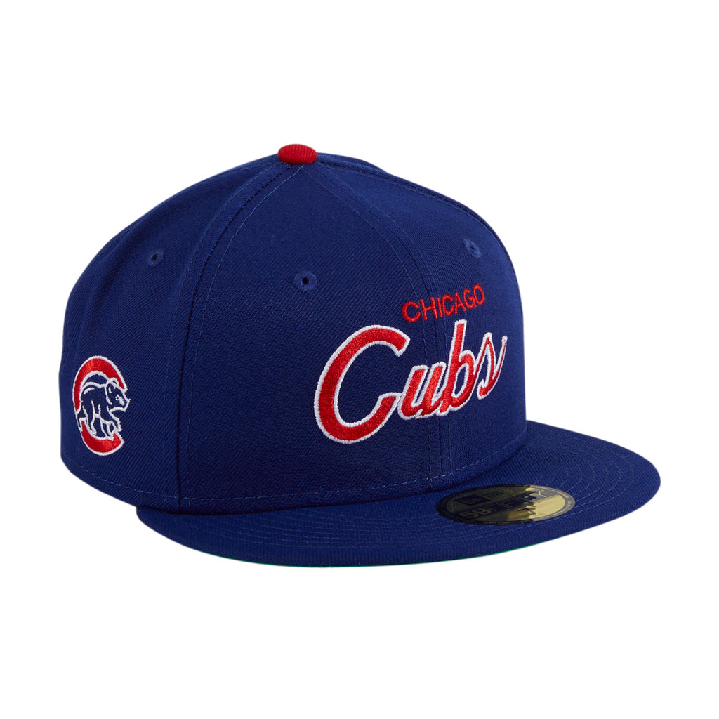 Exclusive New Era 59Fifty Retro Script Chicago Cubs Hat - Royal