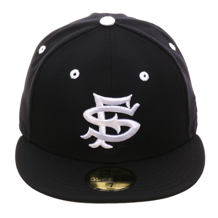 Exclusive New Era 59Fifty San Francisco Seals Hat - Navy – Hat Club b90ec8106be1