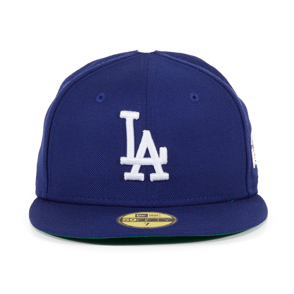 New Era 59Fifty Los Angeles LA Dodgers Game Fitted Hat Dark Royal MLB Cap 2