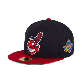 New Era 59Fifty Cleveland Indians 1997 World Series Fitted Hat - 2T Navy, Red