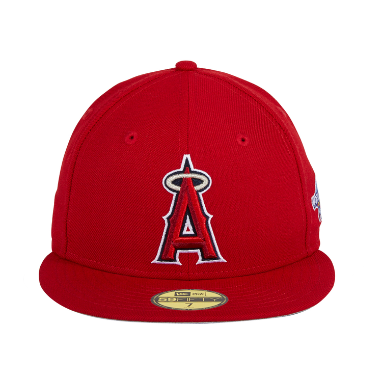 New Era 59Fifty Los Angeles Angels 2002 World Series Hat - Red – Hat Club 442bde70274