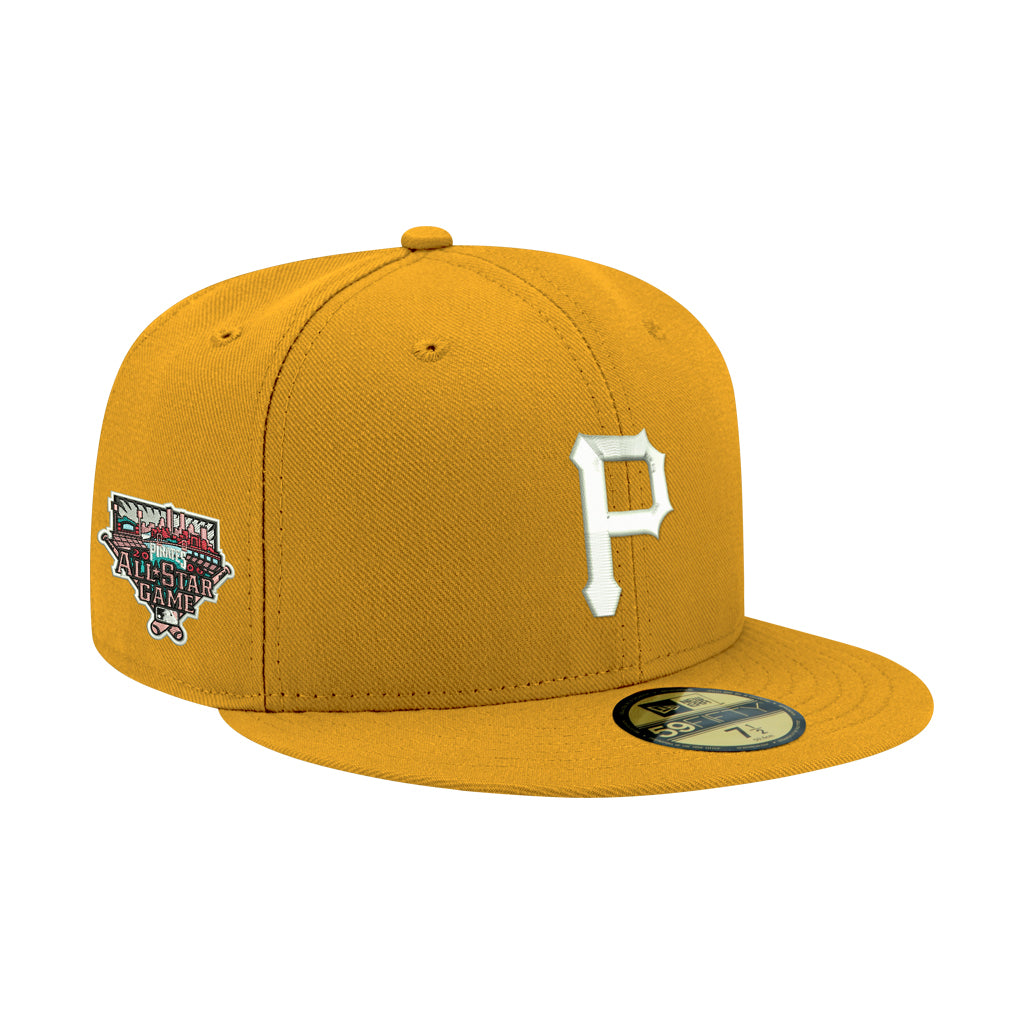 Pre-order Exclusive New Era 59Fifty Pittsburgh Pirates 2006 All Star Game Patch W/ Pink UV Hat - Gold, White