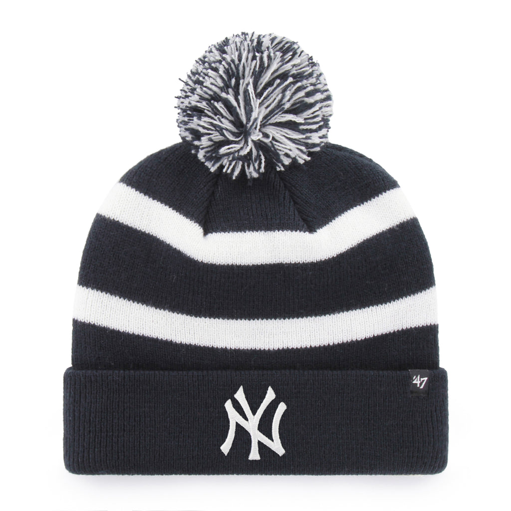 NEW YORK YANKEES NAVY BREAKAWAY CUFF KNIT KNIT CUFF W/POM