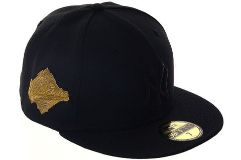 New Era 59Fifty New York Yankees 1996 World Series Fitted Hat - Black, Black, Metallic Gold