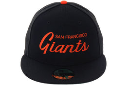 Exclusive New Era 59Fifty San Francisco Giants Script Hat - Black, Orange