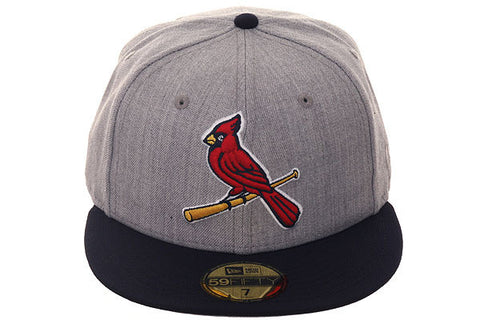 New Era 59Fifty St. Louis Cardinals Fitted Hat - 2T Heather Gray, Navy