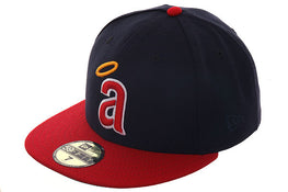Exclusive New Era 59Fifty Anaheim Angels 1971 Hat - 2T Navy, Red