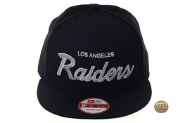 Hat Club Exclusive New Era 9Fifty Oakland Raiders Script Snapback Hat - Black