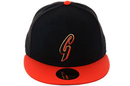 "Exclusive New Era 59Fifty San Francisco Giants ""G"" Hat - 2T Black, Orange"