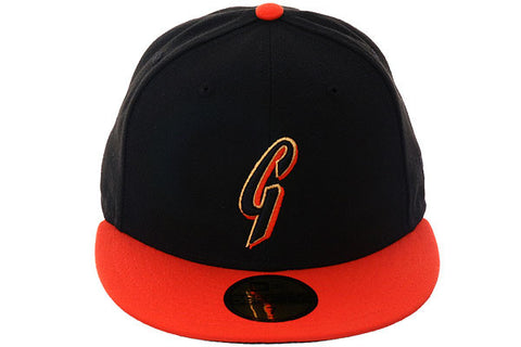 New Era 59Fifty San Francisco Giants BP Fitted Hat - 2T Black, Orange