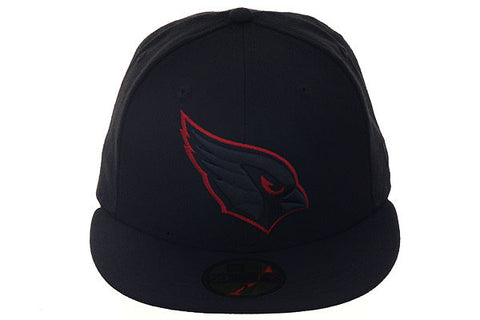 New Era 59Fifty Arizona Cardinals Fitted Hat - Black, Black, Red
