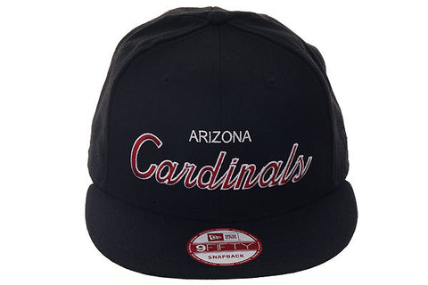 New Era 9Fifty Arizona Cardinals Script Snapback Hat - Black, White, Maroon
