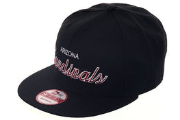 New Era 59Fifty Arizona Cardinals Script Snapback Hat - Black