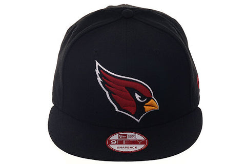 New Era 9Fifty Arizona Cardinals Snapback Hat - Black, Cardinal Red