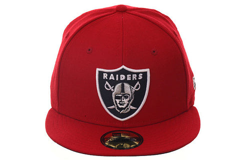 New Era 59Fifty Oakland Raiders Fitted Hat - Red, Black