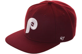 47 Brand Philadelphia Phillies 1979 Sureshot Snapback Hat - Maroon, White