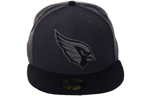 New Era 59Fifty Arizona Cardinals Fitted Hat - 2T Graphite Heather, Black