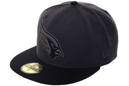 Exclusive New Era 59Fifty Arizona Cardinals Hat - 2T Graphite Heather, Black