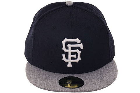 New Era 59Fifty San Francisco Giants Fitted Hat - 2T Navy, Heather Gray