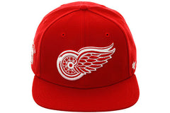 47 Brand Detroit Red Wings Sureshot Snapback Hat - Red, White