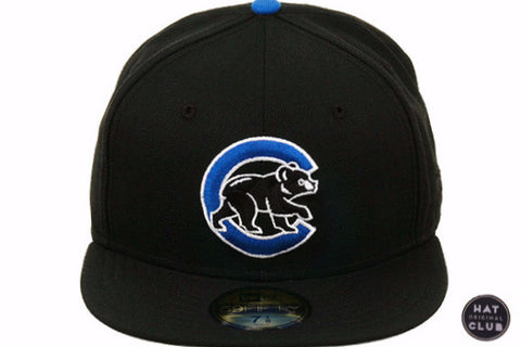 Hat Club Original New Era 59Fifty Chicago Cubs BP Fitted Hat - Black, Royal, White