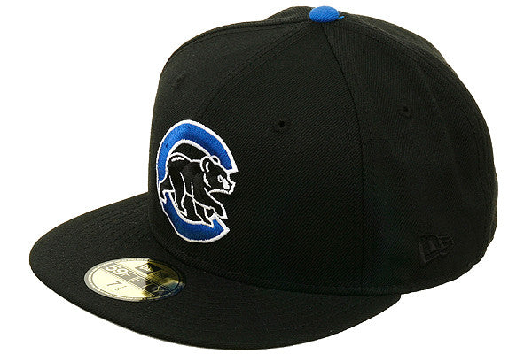Hat Club Exclusive New Era 59Fifty Chicago Cubs BP Fitted Hat - Black, Royal, White