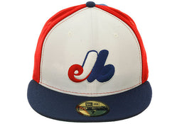 Exclusive New Era 59Fifty Montreal Expos Fitted Hat - White, Royal, Red