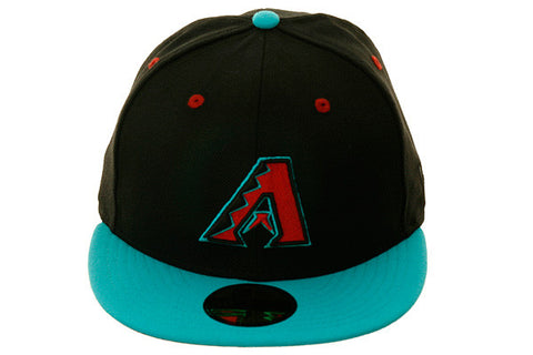 New Era 59Fifty Arizona Diamondbacks Fitted Hat - 2T Black, Teal, Sedona Red