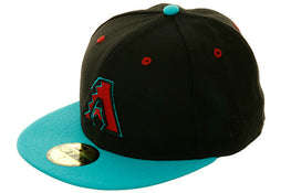 Exclusive New Era 59Fifty Arizona Diamondbacks Hat - 2T Black, Teal, Sedona Red