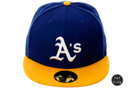 <div>Hat Club Exclusive New Era 59Fifty Oakland Athletics Fitted Hat - 2T Royal, Gold, White</div>