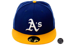 Hat Club Original New Era 59Fifty Oakland Athletics Fitted Hat - 2T Royal, Gold, White