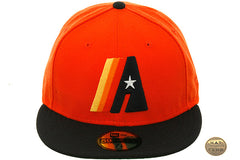 New Era 2Tone Houston Astros Concept Fitted Hat - Orange, Navy