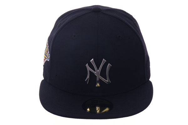 Exclusive New Era 59Fifty New York Yankees 1996 World Series Patch Metal Badge Hat - Navy