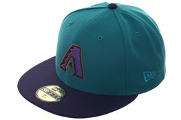 Hat Club Exclusive New Era 59Fifty Arizona Diamondbacks Fitted Hat - 2T Teal, Purple