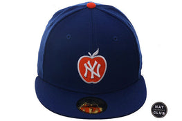 Hat Club Exclusive New Era 59Fifty New York Yankees Apple Fitted Hat - Royal, Orange, White