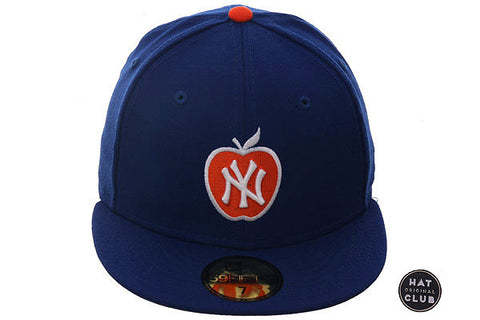 Hat Club Original New Era 59Fifty New York Yankees Apple Fitted Hat - Royal, Orange, White