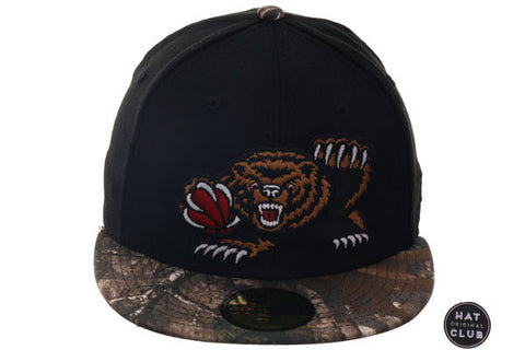 Hat Club Original New Era 59Fifty Vancouver Grizzlies Fitted Hat - 2T Black, Real Tree