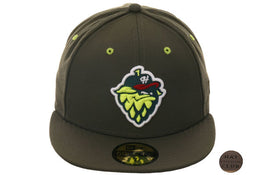 Exclusive New Era 59Fifty Hillsboro Hops Hat- Olive Green