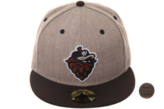 Hat Club Exclusive New Era 59Fifty Hillsboro Hops Fitted Hat- 2T Oatmeal Heather, Brown