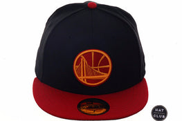 Exclusive New Era 59Fifty Golden State Warriors Alternate Hat - 2T Black, Red, Gold