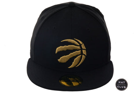 Hat Club Original New Era 59Fifty Toronto Raptors Fitted Hat - Black, Metallic Gold