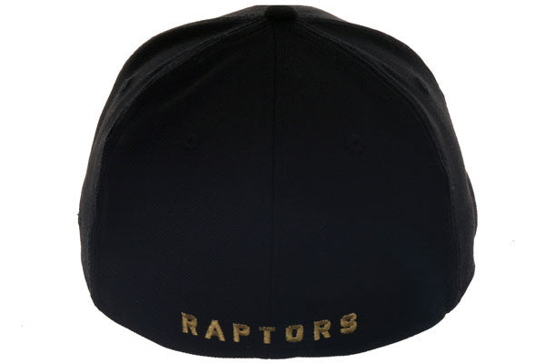 Hat Club Exclusive New Era 59Fifty Toronto Raptors Fitted Hat - Black, Metallic Gold