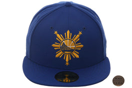 Hat Club Exclusive Golden State Warriors Filipino Heritage Fitted Hat - Royal, Gold